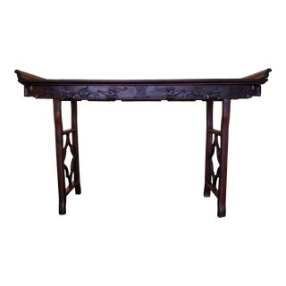 Chinese Solid Rosewood Alter Table For Sale