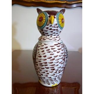 Mid Century Italian Owl Cookie Jar Preview