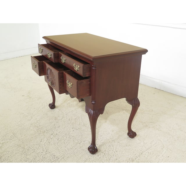 Brown Biggs Ball & Claw Chippendale Mahogany Lowboy For Sale - Image 8 of 12