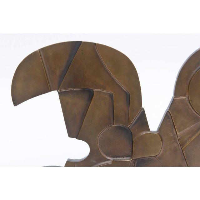 Signed Italian Consagra Abstract, Modernist and Cubist Bronze Sculpture - Image 6 of 10