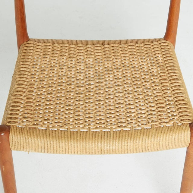 Teak and Woven Cord Chair by Niels Moller For Sale - Image 5 of 5