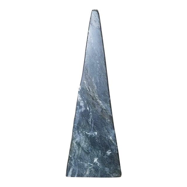 Black Marble Obelisk Sculpture For Sale