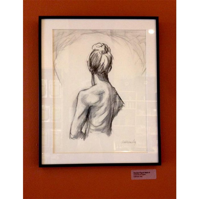Figurative Charcoal Drawing Female Figure Back 2, Original by Kathleen Ney For Sale - Image 3 of 4
