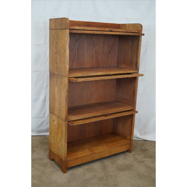 Stickley Mission Oak Stacking Barristers Bookcase - Image 6 of 10