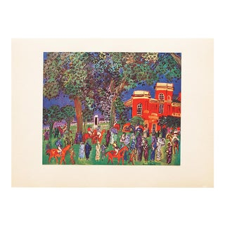 """1947 Raoul Dufy, Original Period Lithograph """"Paddock"""" From Paris For Sale"""
