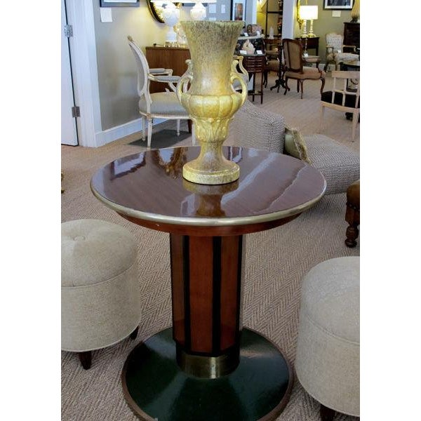 A Large American Baluster Form Yellow & Green Glazed Ceramic Urn by Haeger For Sale In San Francisco - Image 6 of 7