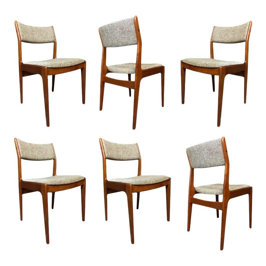 Vintage Danish Modern Teak Dining Chairs By Dixie Chairish