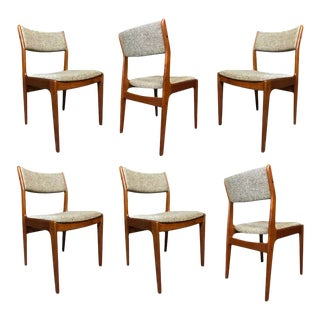 Vintage Danish Modern Teak Dining Chairs by Dixie For Sale