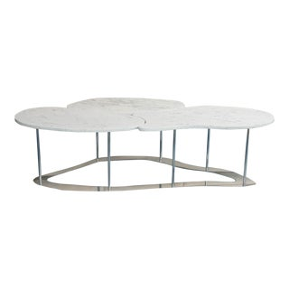 Carrara Marble Cocktail Table by Gregory Clark For Sale