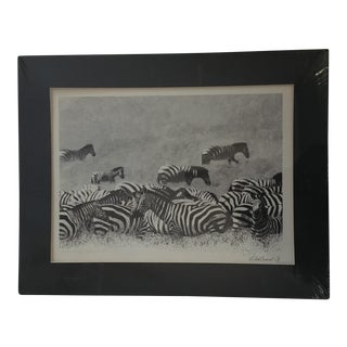 Pointillism Style Zebra Print For Sale
