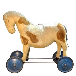 Early 20th Century Ride of Pony Horse on Wheels by Steiff For Sale