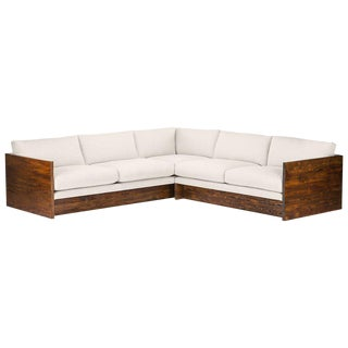 Mid-Century Modern Norton Solid Wood Frame Sectional Sofa