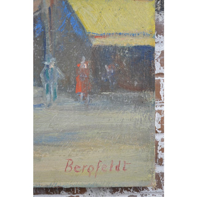 Impressionist Vintage 1920s Oil Painting of Nice, France by Charles Bergfeldt For Sale - Image 3 of 13