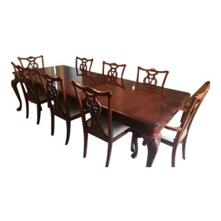 Solid Cherry Wood Dining Set For Sale