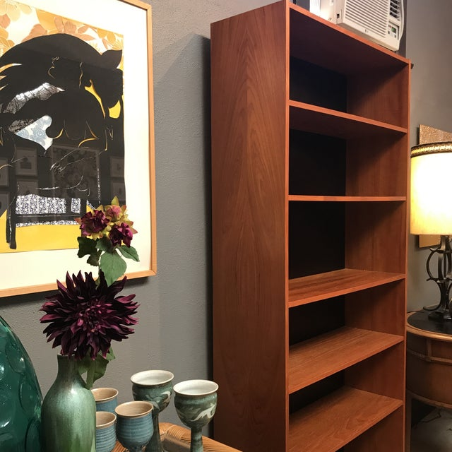 Danish Mid-Century Teak Bookcase - Image 4 of 8