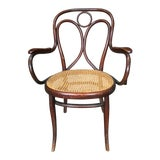 Image of Vintage Mid Century Thonet Bistro Bentwood Armchair For Sale