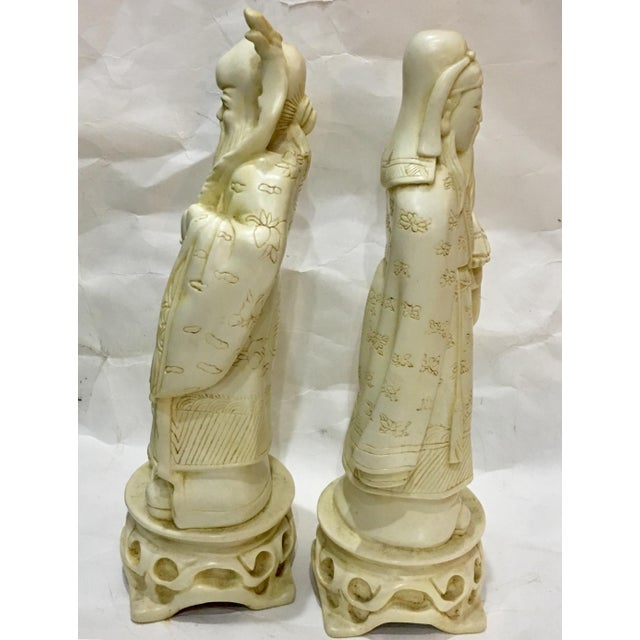 Vintage Chinese Old Scholars Figures - a Pair For Sale In New York - Image 6 of 13