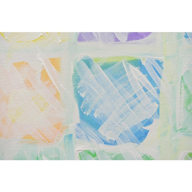 """2010s """"Snow in the Garden"""", Contemporary Abstract Painting by Stephen Remick For Sale - Image 5 of 10"""