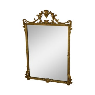 Friedman Brothers Carved Gilt Louis XVIII Style Stanton Arms Wall Mirror For Sale