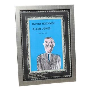 """1966 Vintage """"David Hockney"""" Galerie Sedar Exhibition Poster For Sale"""