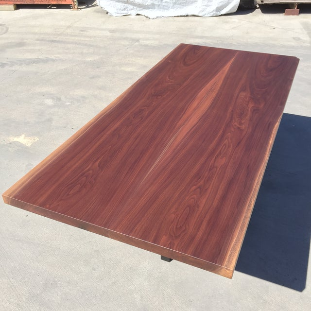 Contemporary Hardwood Table & Cube Base - Image 5 of 6
