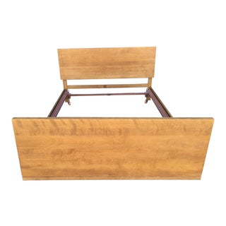 Mid-Century Modern Maple Full Size Bedframe For Sale