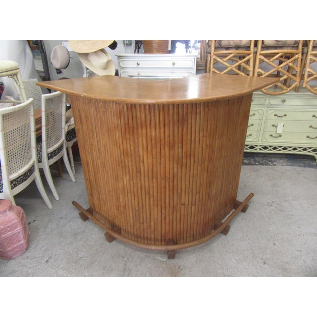 Wood 1970s Island Style Bamboo Bar For Sale - Image 7 of 8
