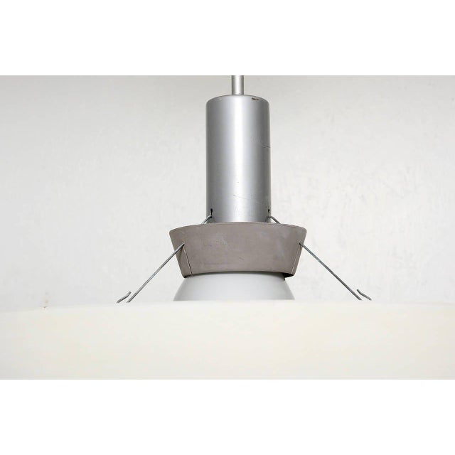 Architectural Aluminum Shade Hanging Lamp For Sale In San Diego - Image 6 of 10