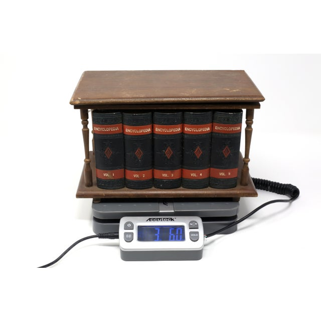 Vintage Japanese Wood and Leather Library Liquor Box With Original Glassware For Sale - Image 11 of 12