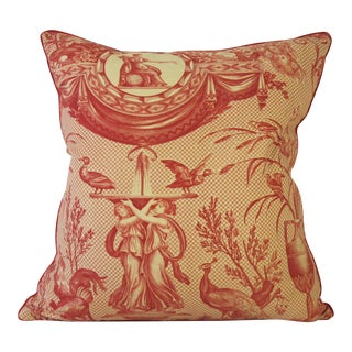 Antique Toile Pillow For Sale