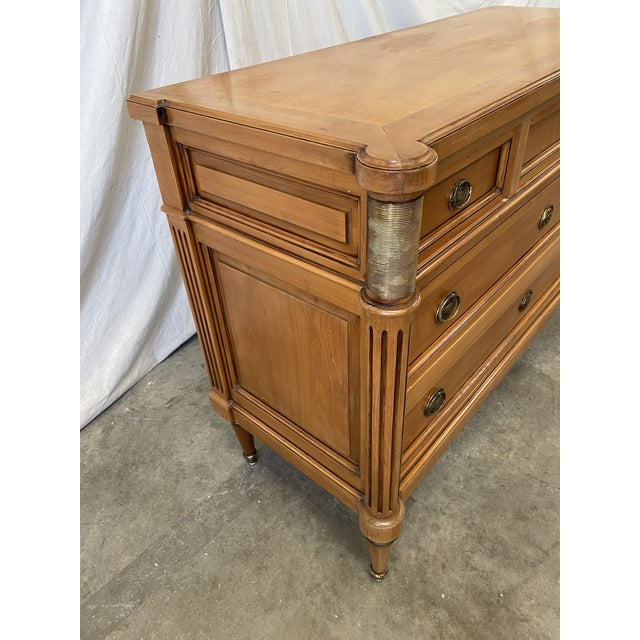 French Antique Louis XVI Style Walnut Commode - Early 20th C For Sale - Image 9 of 12