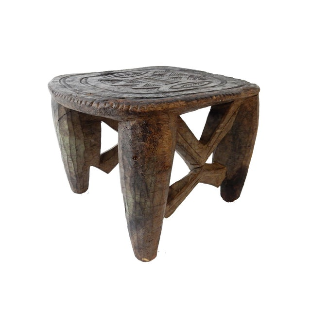 Senufo Carved Milk Stool - Image 4 of 6
