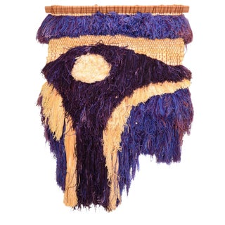 California Fiber Art Textile Wall-Mounted Sculpture by Margo O'Conner For Sale