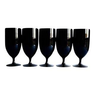 Fostoria Black Glasses - Set of 5