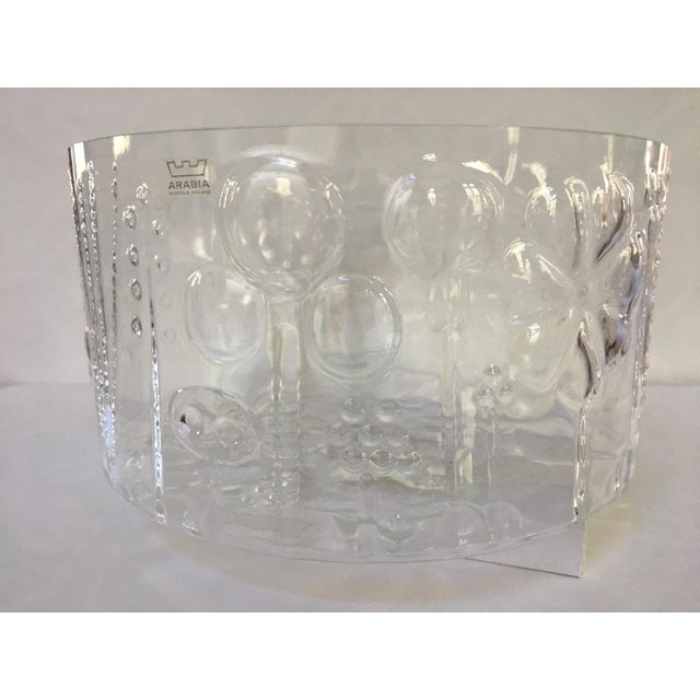Mid-Century Modern 1960s Mid-Century Modern Oiva Toikka Flora Glass Bowl by Arabia Finland For Sale - Image 3 of 10