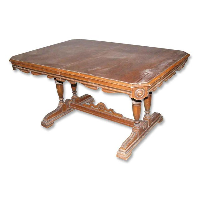 Walnut dining room table chairish for Dining room table 32 wide