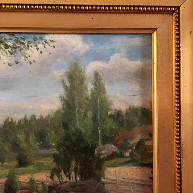 19th Century Swedish Painting by Bror Tycho Ödberg For Sale In New York - Image 6 of 12