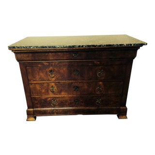 Antique Burled Walnut English Console