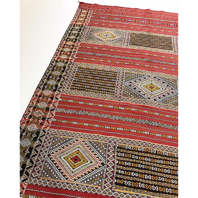 Moroccan Handmade Kilim Rug - 7′6″ × 11′6″ - Image 3 of 11