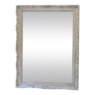 Carved Rococo White-Washed Mirror