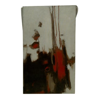 """20th Century Contemporary Original Framed Painting on Canvas, """"Flowing Red"""" by Frederick McDuff"""
