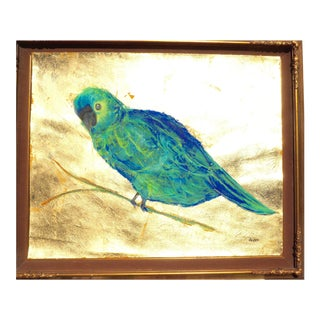Monumental Parrot in a Gold Frame For Sale