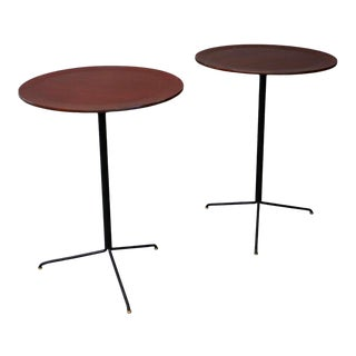 Mid Century Side Tables by Osvaldo Borsani for Tecno Model - a Pair For Sale