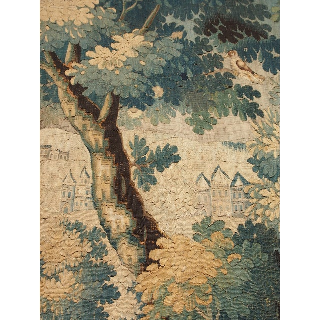 Textile Verdure Tapestry with a Chateau and Fountain For Sale - Image 7 of 10