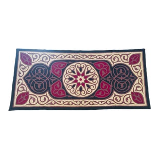 """Late 20th Century Vintage Middle Eastern Suzani Quilted Turkish Textile-2'10"""" x 5'5"""" For Sale"""