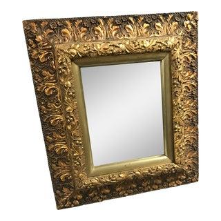 Leaf Carved Framed Mirror For Sale