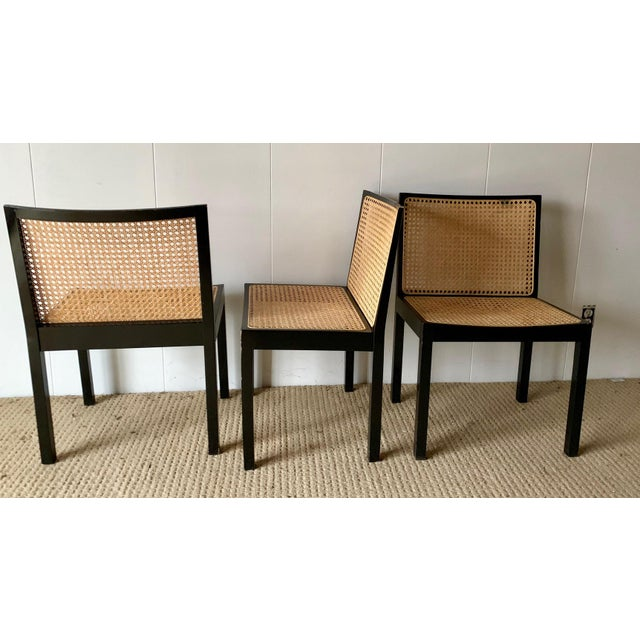 "Rare set of (4) Willy Guhl Chairs Black Lacquered ""Bankshuhl"" Chairs by Willy Guhl for Stendig Chairs were designed to be..."