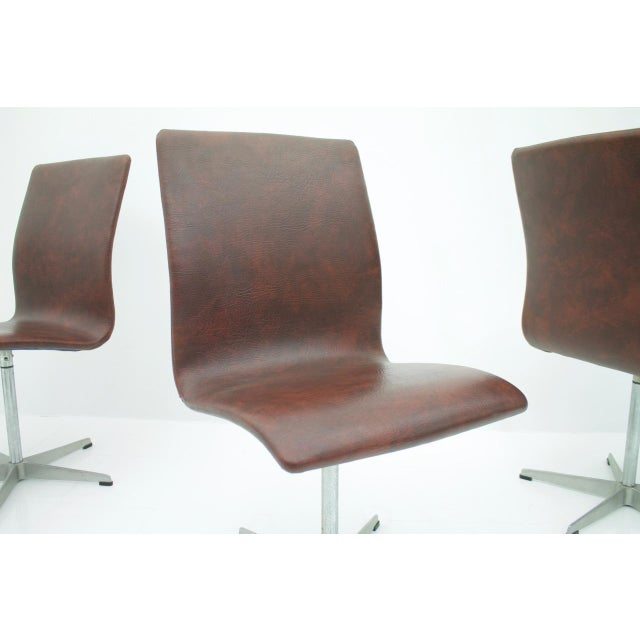 Silver 6x Arne Jacobsen Oxford Chairs by Fritz Hansen Denmark For Sale - Image 8 of 12