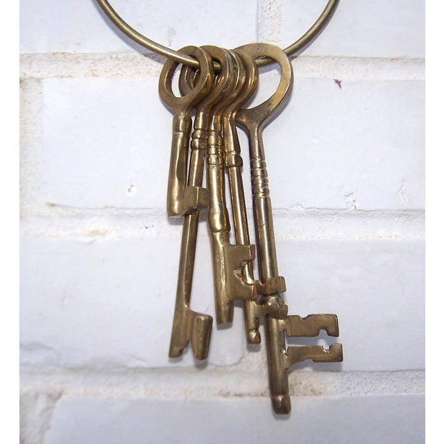 Vintage Ring of Brass Jailhouse Style Keys - Image 6 of 7