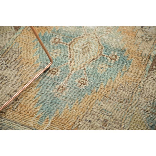 "Vintage Distressed Oushak Rug Runner - 3'2"" X 9'2"" - Image 4 of 11"